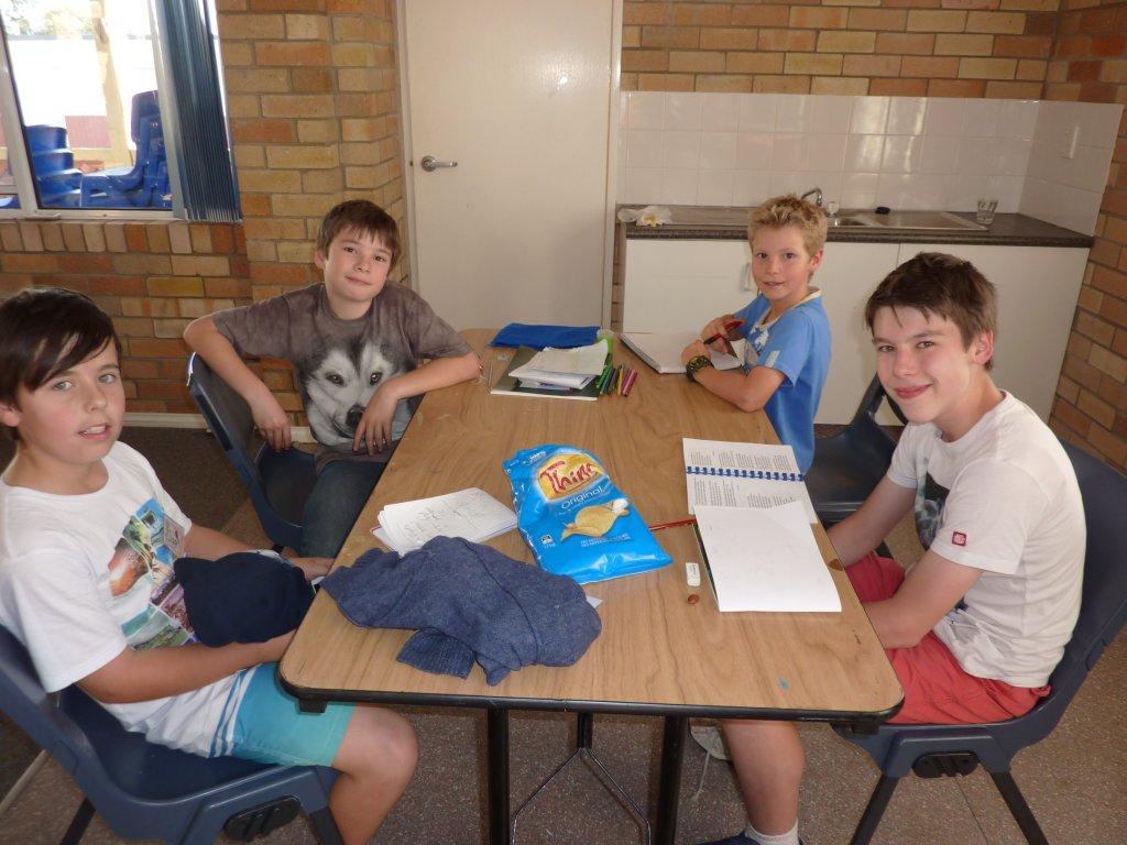 Samuel, Logan, Izzy and Riley.