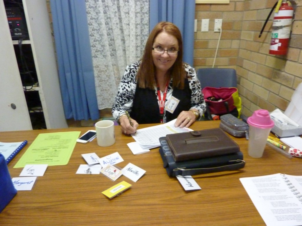 Sue Hall, our Conference convenor, making sure that everything is running smoothly.