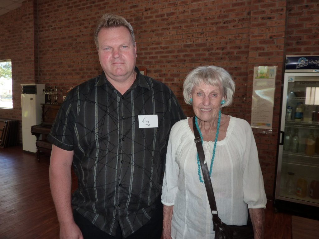 Tim with his mother, Ruth.