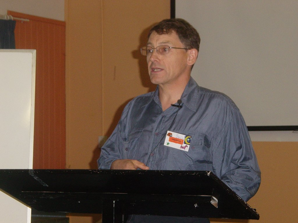 2004 - Guest speaker Michael Garstang at the BBFA's Annual Conference at Toukley.