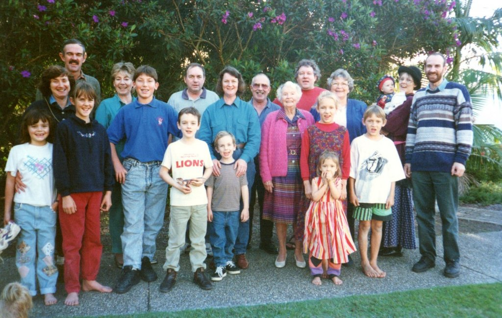 1997 - Part of the gathering for a Brisbane Bible study weekend.