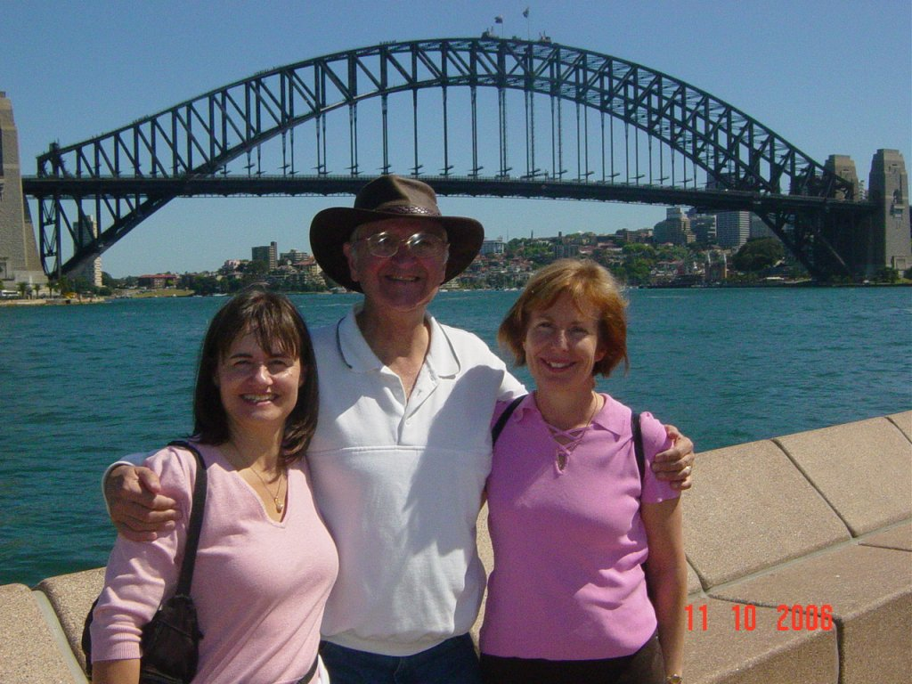 2006 - L to R: Sylvia and Michael Penny, with Anne Ward, Sydney.