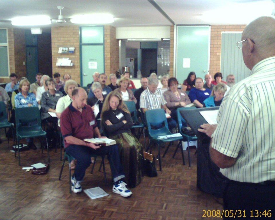 2008 - John Hutton speaking at a gathering in Charlestown NSW.