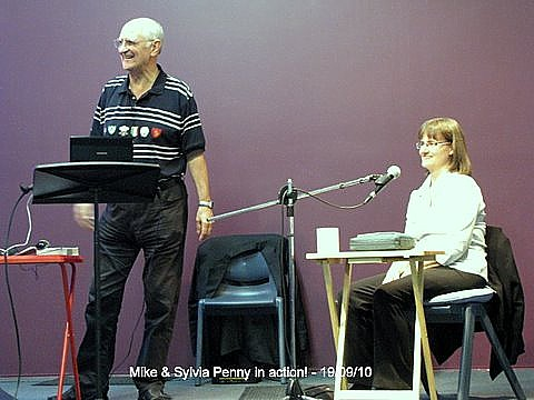 2010 - Guest speaker Michael Penny with his wife, Sylvia, giving the readings.
