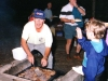 1995? - Ron Boaden runs the BBQ for a special Saturday evening at Conference.