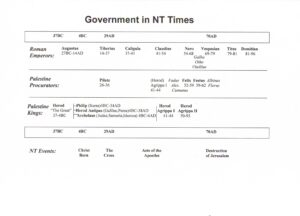 Government in NT times